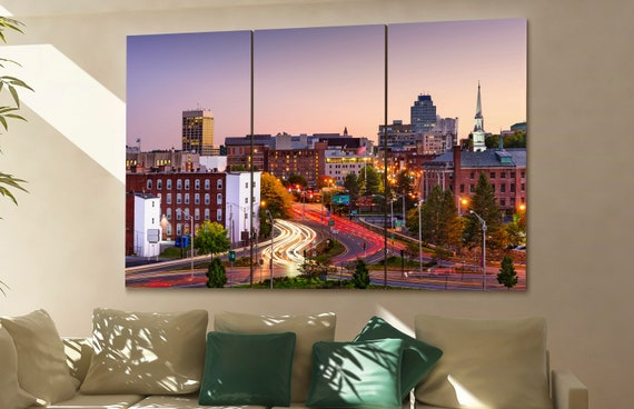 Worcester skyline Worcester wall art Worcester city Worcester art Worcester cityscape Worcester downtown Worcester canvas