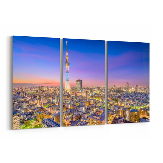 Tokyo Canvas Print Tokyo Wall Art Canvas Japan Multiple Sizes Wrapped Canvas on Wooden Frame