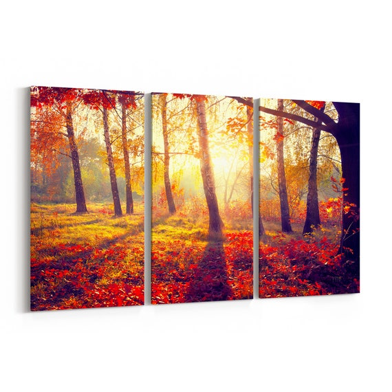 Autumn Fall Canvas Print Autumn Fall Wall Art Canvas Multiple Sizes Wrapped Canvas on Wooden Frame