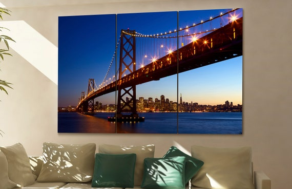 San Francisco canvas wall art  skyline San Francisco  canvas wall art art San Francisco  wall decoration San Francisco large canvas wall art