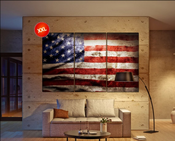United states Flag  canvas United states Flag wall decoration United states Flag canvas art United states Flag large canvas