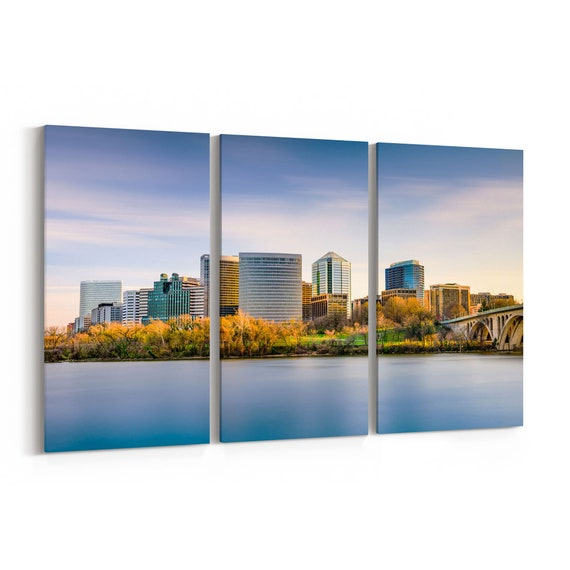 Rosslyn Skyline Wall Art Canvas Rosslyn Canvas Print Arlington Multiple Sizes Wrapped Canvas on Wooden Frame