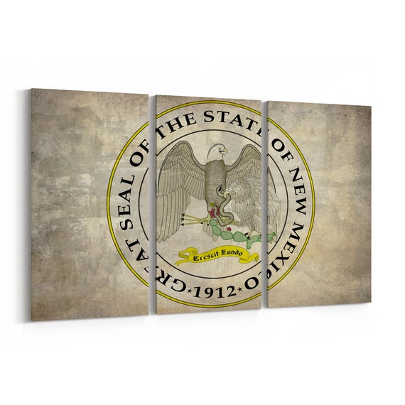 New Mexico State Seal Wall Art Canvas New Mexico State Seal Canvas Print Multiple Sizes Wrapped Canvas on Wooden Frame