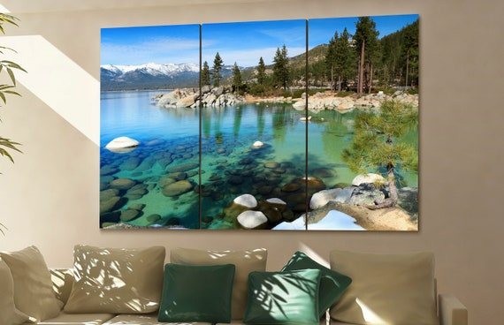Lake tahoe wall art Lake tahoe canvas Lake tahoe canvas wall art Lake tahoe decor Lake tahoe wall decor Lake tahoe art