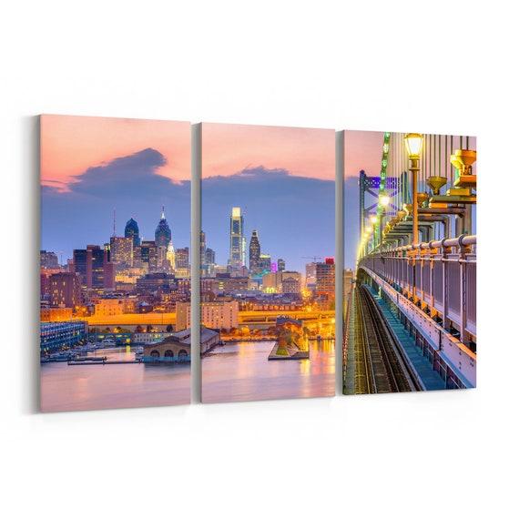 Philadelphia Canvas Print Pennsylvania Multiple Sizes Wrapped Canvas on Wooden Frame