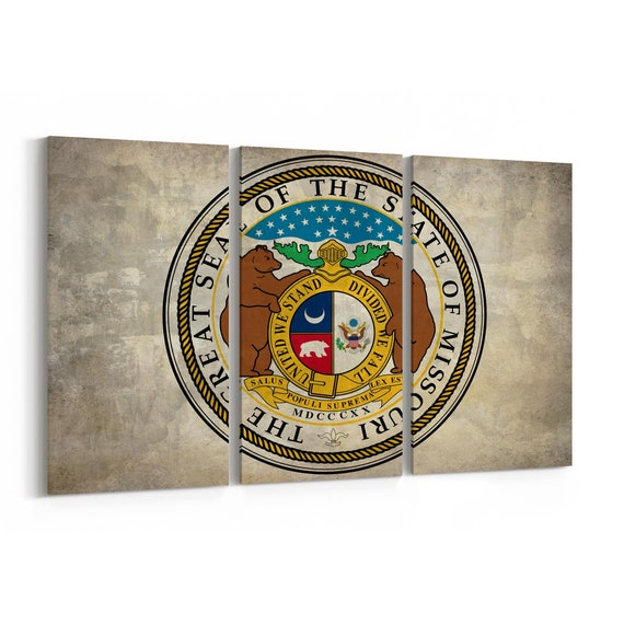 Missouri State Seal Wall Art Canvas Missouri State Seal Canvas Print Multiple Sizes Wrapped Canvas on Wooden Frame