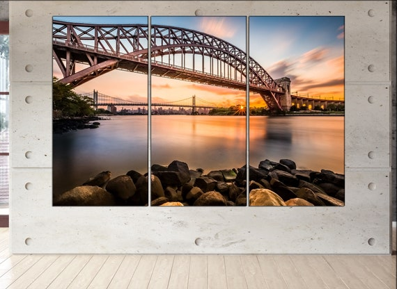 Hell Gate and Triboro bridge  wall art Hell Gate and Triboro bridge  art Hell Gate and Triboro bridge  print Hell Gate and Triboro bridge
