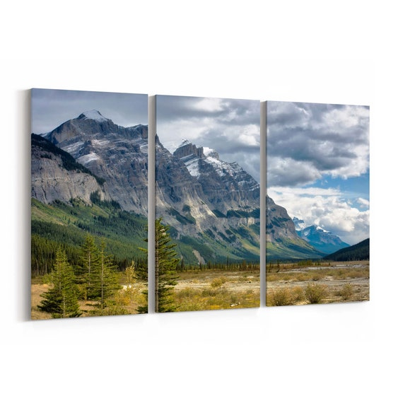 Canadian Rockies Canvas Print Canadian Rockies Wall Art Canvas Multiple Sizes Wrapped Canvas on Wooden Frame