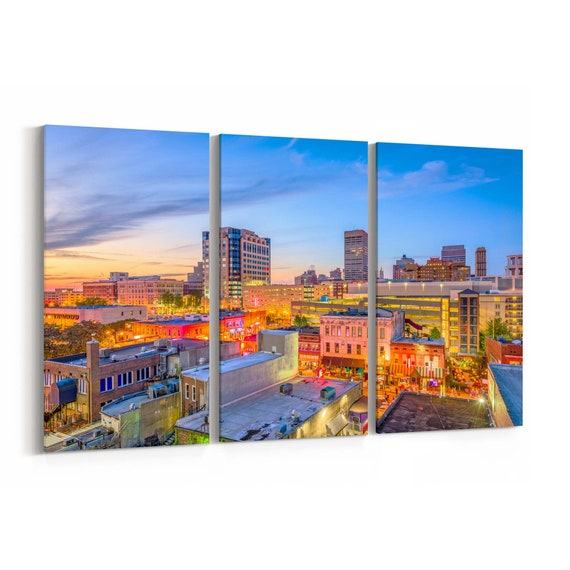 Memphis Skyline Wall Art Canvas Memphis Canvas Print Tennessee Multiple Sizes Wrapped Canvas on Wooden Frame