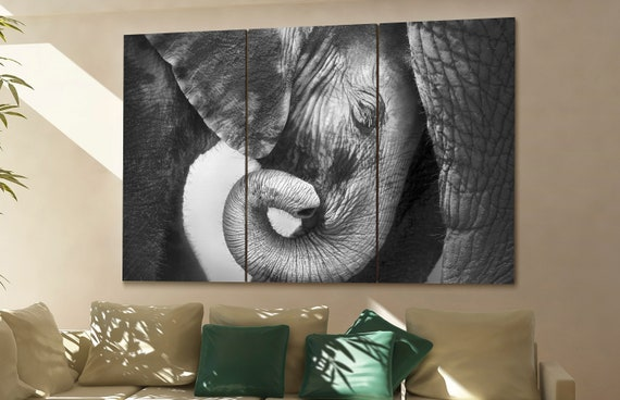 elephant  canvas wall art elephant wall decoration elephant canvas wall art art elephant large canvas wall art  wall decor