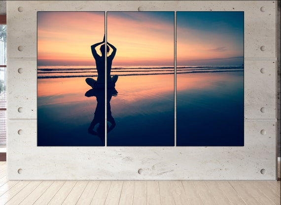 yoga canvas wall art  yoga canvas wall art art yoga wall decoration yoga large canvas wall art yoga ready to hang art yoga print