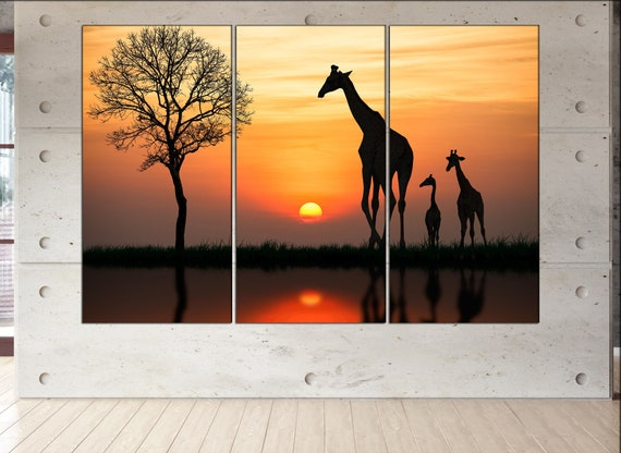 giraffe  canvas wall art giraffe wall decoration giraffe canvas wall art art giraffe large canvas wall art  wall decor