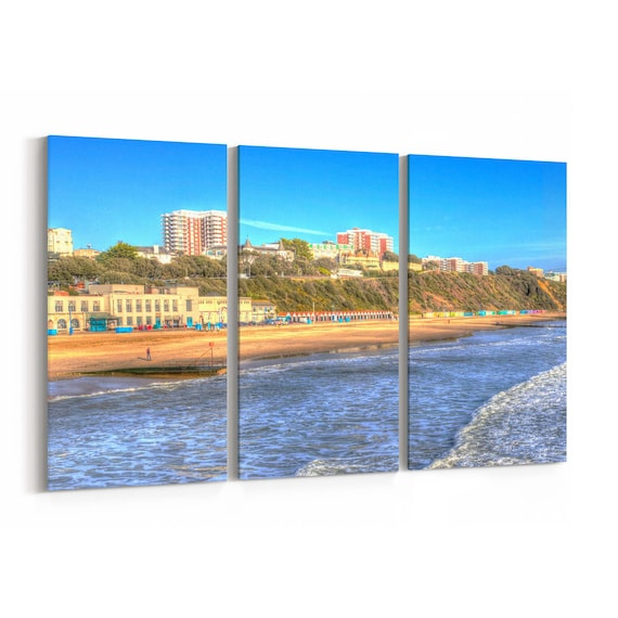 Bournemouth Skyline Wall Art Bournemouth Canvas Print Multiple Sizes Wrapped Canvas on Wooden Frame