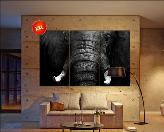 Elephant wall art Elephant canvas Elephant canvas wall art Elephant decor Elephant wall decor Elephant art Elephant large wall art