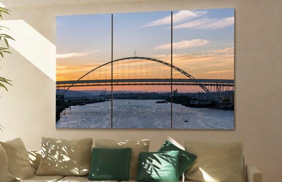 Fremont Bridge wall art Fremont Bridge art Fremont Bridge print Fremont Bridge canvas