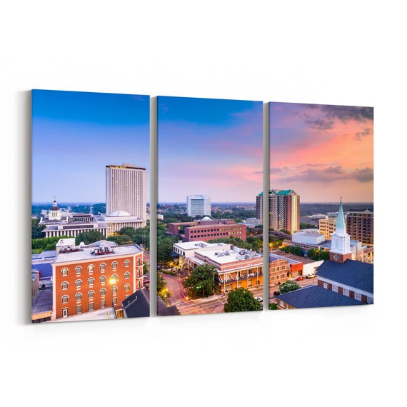 Tallahassee Canvas Art Tallahassee Wall Art Canvas Florida Multiple Sizes Wrapped Canvas on Wooden Frame