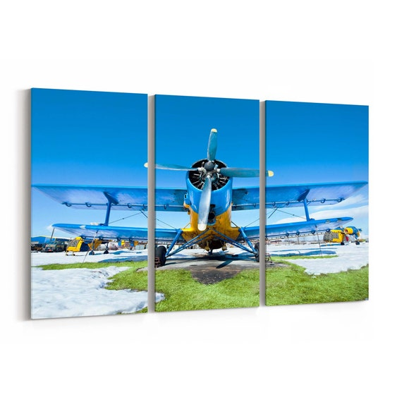 Airplanes Canvas Print Airplanes Wall Art Canvas Multiple Sizes Wrapped Canvas on Wooden Frame