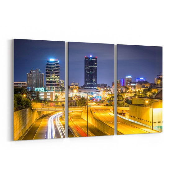 Knoxville Skyline Canvas Knoxville Canvas Wall Art Tennessee Multiple Sizes Wrapped Canvas on Wooden Frame