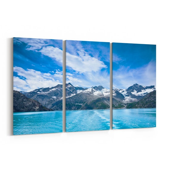 Glacier Bay Canvas Print Glacier Bay Wall Art Canvas Multiple Sizes Wrapped Canvas on Wooden Frame