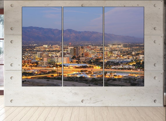 Tucson skyline Tucson wall art Tucson city Tucson art Tucson cityscape Tucson downtown Tucson canvas