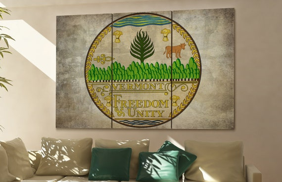 Vermont state flag Vermont flag state of Vermont Vermont wall decor Vermont wall art Vermont gift