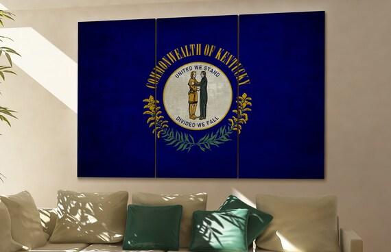 Kentucky state flag Kentucky flag state of Kentucky Kentucky wall decor Kentucky wall art Kentucky gift