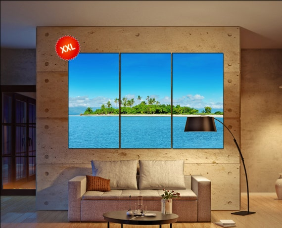 Tropical island  canvas Tropical island wall decoration Tropical island canvas art Tropical island large canvas  wall decor
