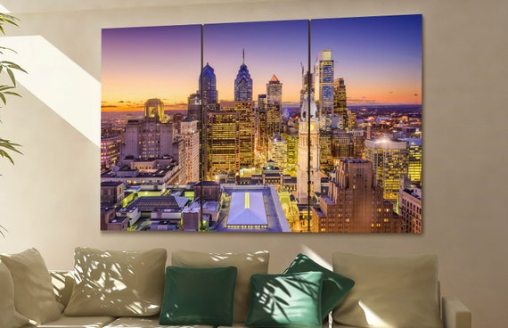 Philadelphia  canvas wall art Philadelphia wall decoration Philadelphia canvas wall art art Philadelphia large canvas wall art