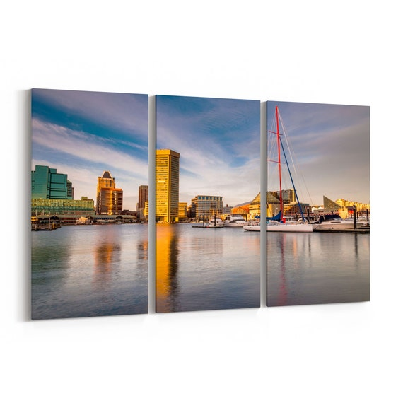 Baltimore Canvas Art Baltimore Wall Art Canvas Multiple Sizes Wrapped Canvas on Wooden Frame