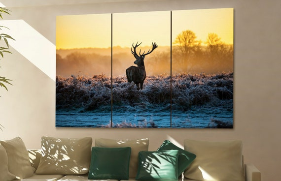 deer canvas deer wall art deer canvas wall art deer decor deer wall decor deer art