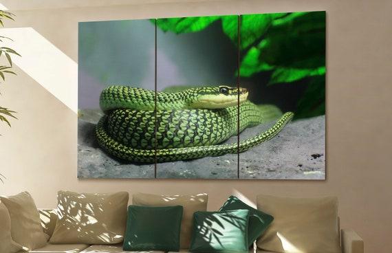 Snake wall art Snake canvas Snake canvas wall art Snake decor Snake wall decor Snake art Snake large wall art