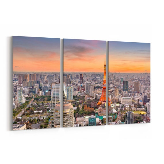Tokyo Canvas Art Tokyo Wall Art Canvas Japan Multiple Sizes Wrapped Canvas on Wooden Frame