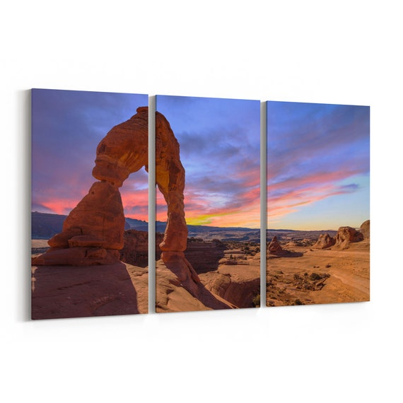 Arches National Park Canvas Print Arches National Park Canvas Art Multiple Sizes Wrapped Canvas on Wooden Frame