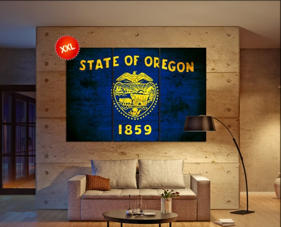 oregon state flag  canvas oregon state flag wall decoration oregon state flag canvas art oregon state flag large canvas