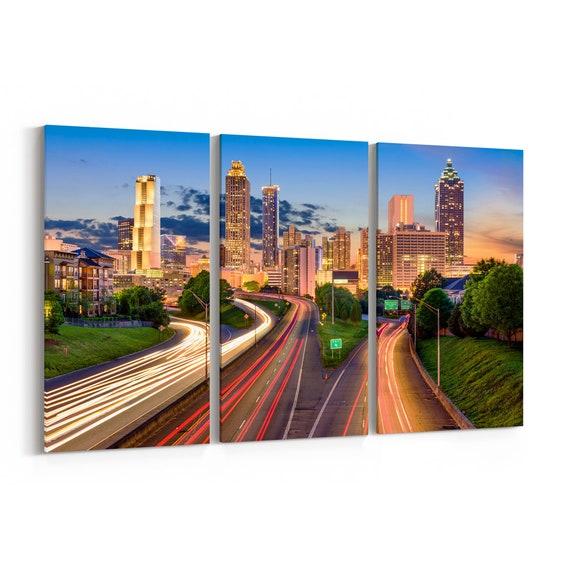 Atlanta Canvas Wall Art Atlanta Canvas Print Multiple Sizes Wrapped Canvas on Wooden Frame