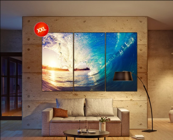 Sea wave  canvas wall art Sea wave wall decoration Sea wave canvas wall art art Sea wave large canvas wall art  wall decor