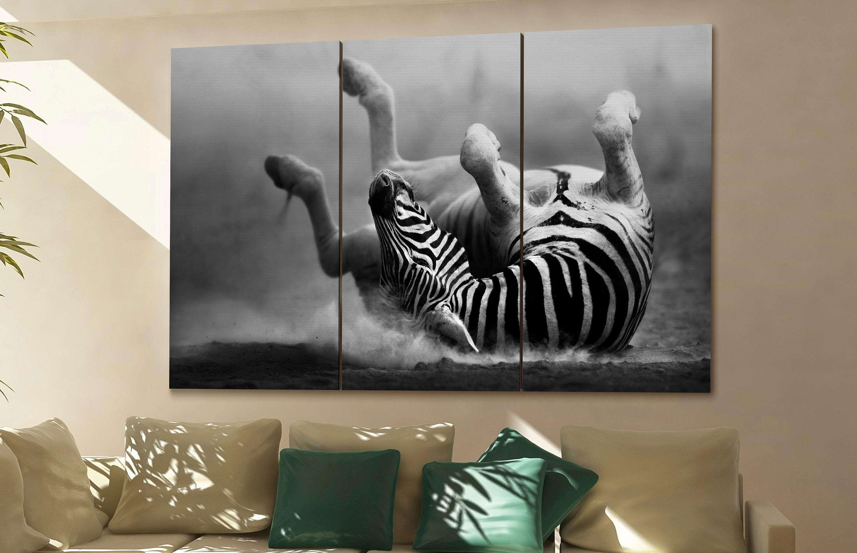 Zebra Canvas Zebra Wall Art Zebra Canvas Wall Art Zebra Decor Zebra