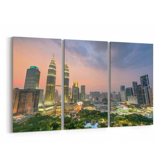 Kuala Lumpur Canvas Print Kuala Lumpur Wall Art Canvas Multiple Sizes Wrapped Canvas on Wooden Frame