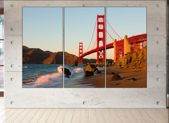 Golden Gate bridge wall art Golden Gate bridge art Golden Gate bridge print Golden Gate bridge canvas