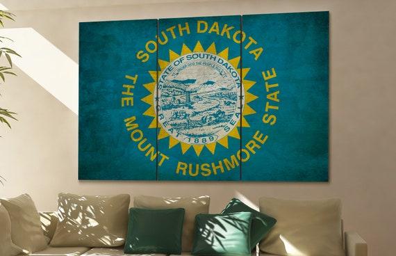 South Dakota state flag South Dakota flag state of South Dakota South Dakota wall decor South Dakota wall art South Dakota gift