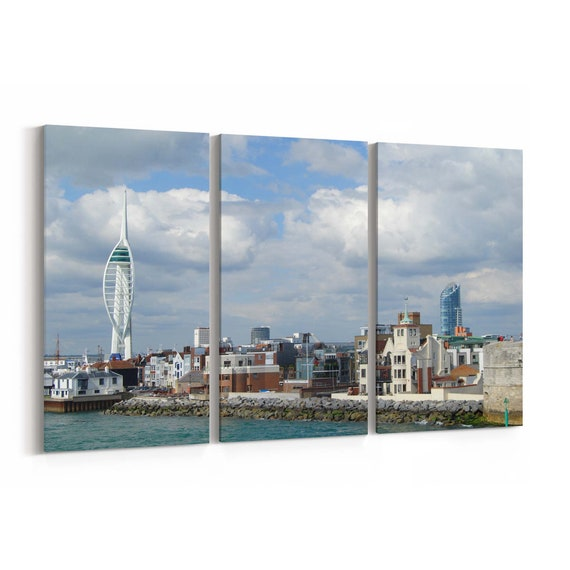 Portsmouth Skyline Wall Art Portsmouth Canvas Print Multiple Sizes Wrapped Canvas on Wooden Frame