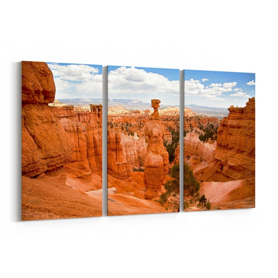 Thors Hammer Canvas Print Thors Hammer Wall Art Canvas Bryce Canyon Multiple Sizes Wrapped Canvas on Wooden Frame