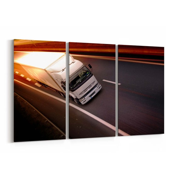 Truck Canvas Print Truck Wall Art Canvas Multiple Sizes Wrapped Canvas on Wooden Frame