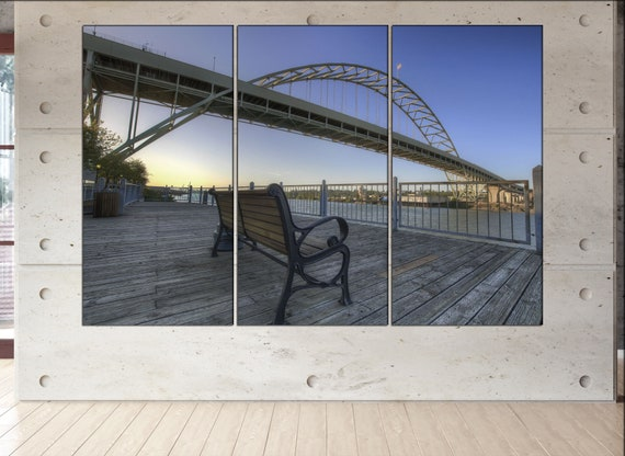 Fremont Bridge  wall art Fremont Bridge  art Fremont Bridge  print Fremont Bridge  canvas