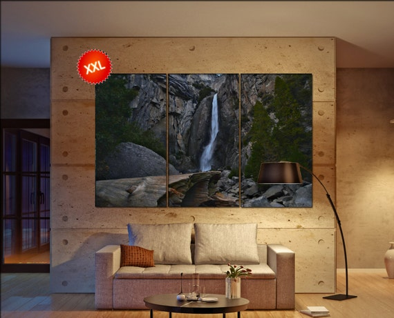 Yosemite waterfall canvas Yosemite waterfall wall art Yosemite waterfall canvas wall art Yosemite waterfall decor