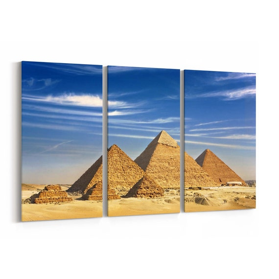 Pyramids Canvas Print Pyramids Wall Art Canvas Multiple Sizes Wrapped Canvas on Wooden Frame
