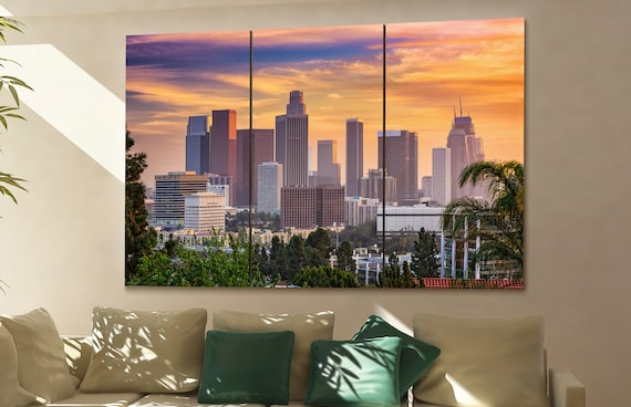 Los Angeles  skyline Los Angeles  wall art Los Angeles  city Los Angeles  art Los Angeles  Los Angeles  downtown Los Angeles  canvas