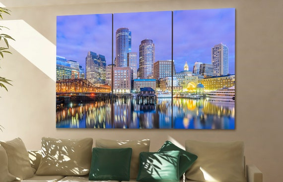 Boston  wall art Boston  skyline Boston  cityscape Boston  art Boston  Boston  downtown Boston  canvas Boston  city