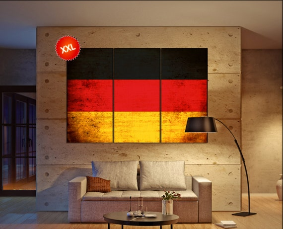 Germany flag canvas wall art art print large  canvas wall art print Germany country flag Wall Home office decor interior Office Decor