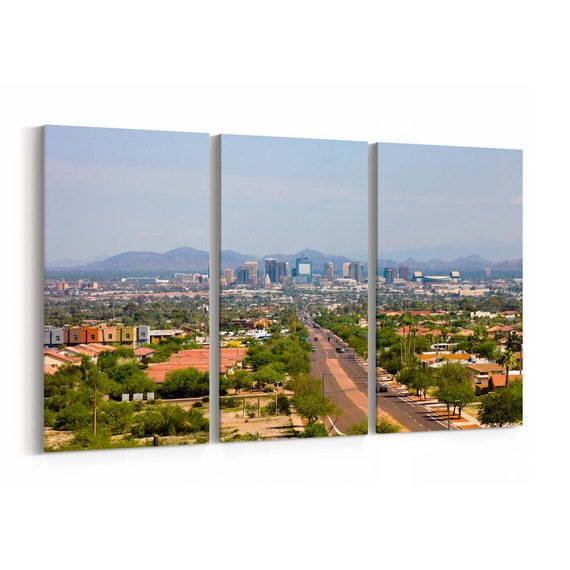 Phoenix Skyline Wall Art Phoenix Canvas Print Multiple Sizes Wrapped Canvas on Wooden Frame